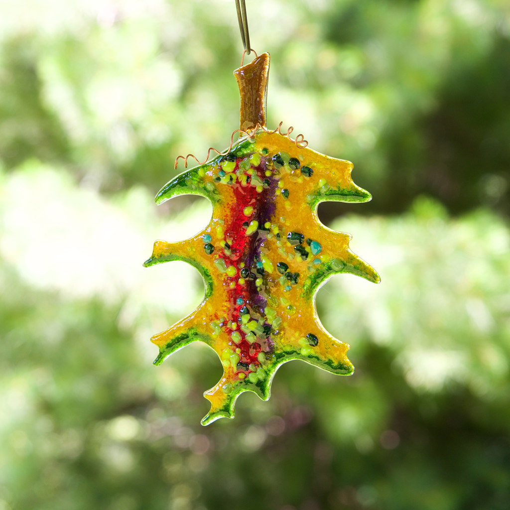 Oak Leaf Sun Catcher by Riha