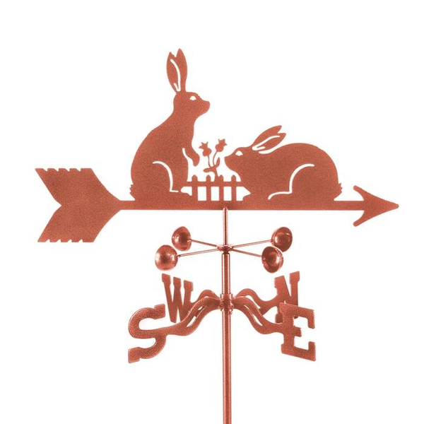 Rabbits with Fence Weathervane by Debra Kelch