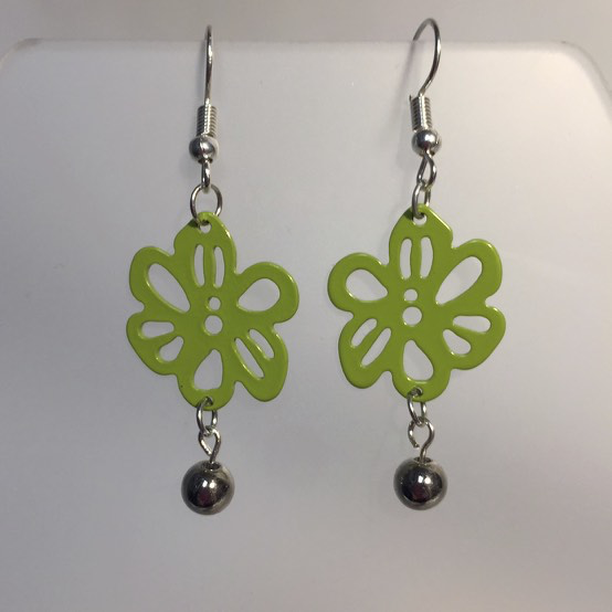 Summer Green Earrings by Stephanie Heller Durr