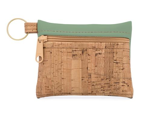 Be Organized Cork & Faux Leather Zip Pouch Key Chain - Natalie DiBello - © Blue Pomegranate Gallery