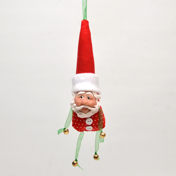 Santa Jingle Ornament by Debbie McIntyre *Last Chance Item - © Blue Pomegranate Gallery