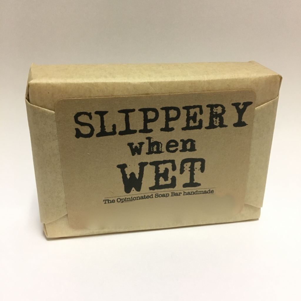 Slippery when wet - hand made soap