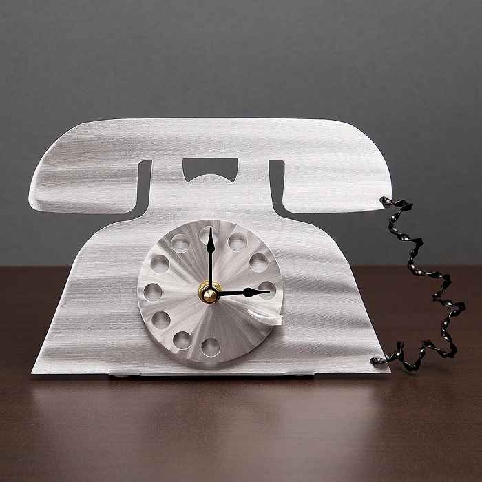 Talk Time Clock and Letter Holder by Sondra Gerber - © Blue Pomegranate Gallery
