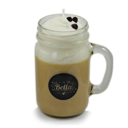 Coffee Stop 27 oz. Vanilla Soy Candle in Mason Jar Mug - © Blue Pomegranate Gallery