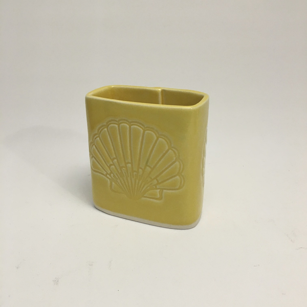 Yellow Short Rectangle Vase by Berls & McConnell