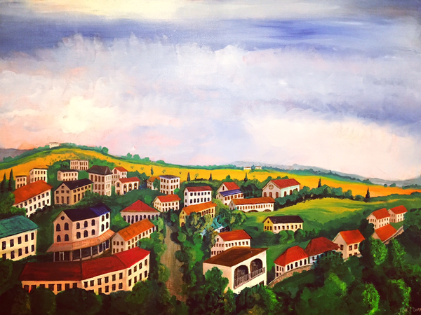 An Afternoon in Sicily by John Durr - Original Acrylic - © Blue Pomegranate Gallery