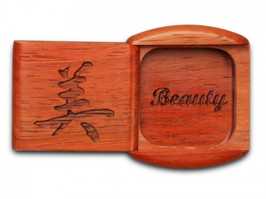 Beauty - Chinese Calligraphy Box, Cherry, 1/2 x 2 x 2 by Michael Fisher