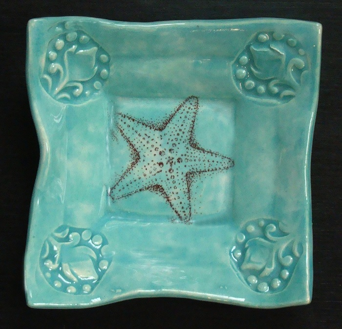 Dipping Dish 4x4 by Lorraine Oerth - © Blue Pomegranate Gallery