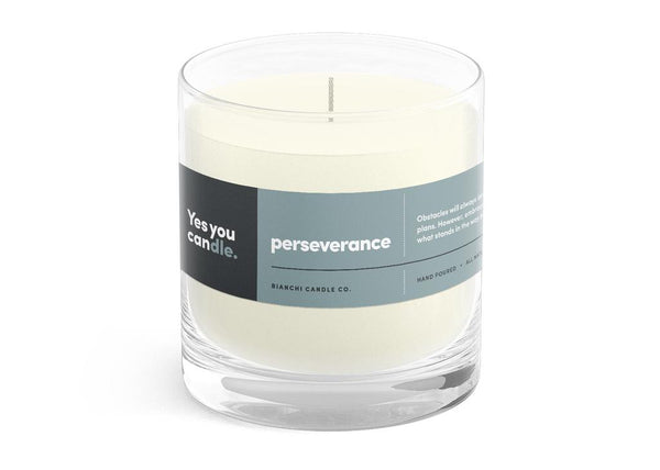 Perseverance Yes You CANdle, 8 oz. 100% Soy, hand poured, 60 hr burn time - © Blue Pomegranate Gallery