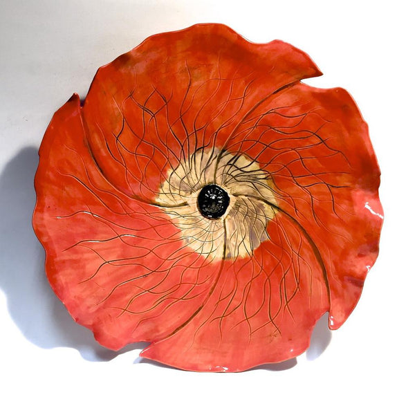 LG Red Wall Poppy 1 by Amy Meya - © Blue Pomegranate Gallery