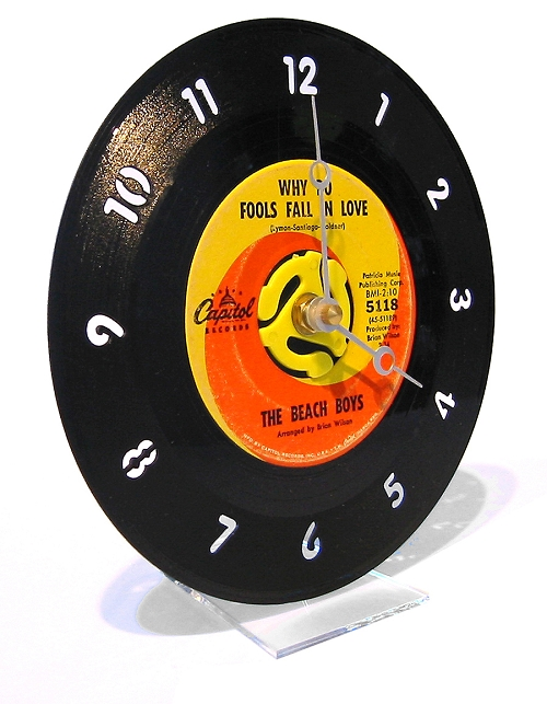 45rpm Wall Clock by Jeff Davis