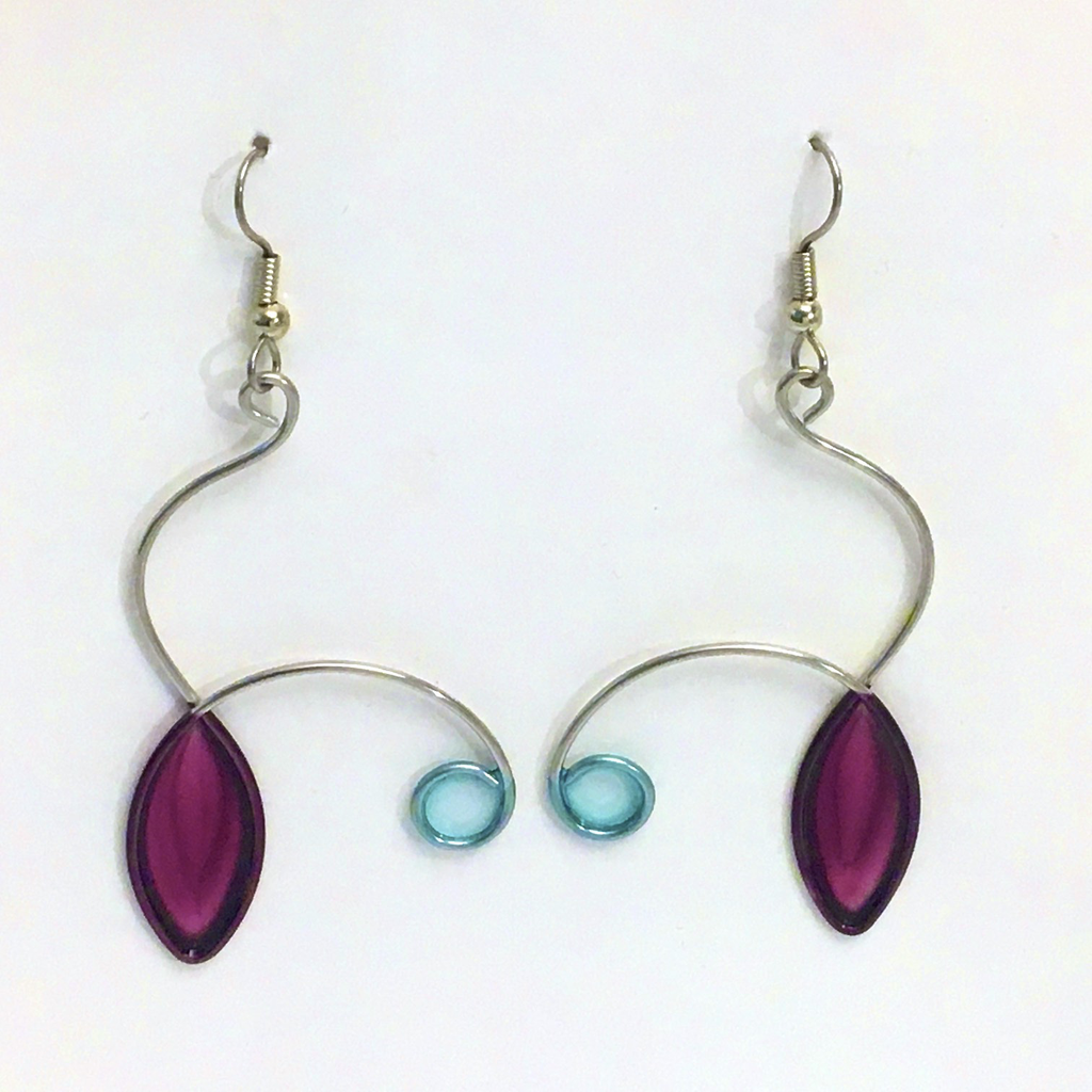 Stainless Steel Resin Earrings by Christopher Royal - © Blue Pomegranate Gallery