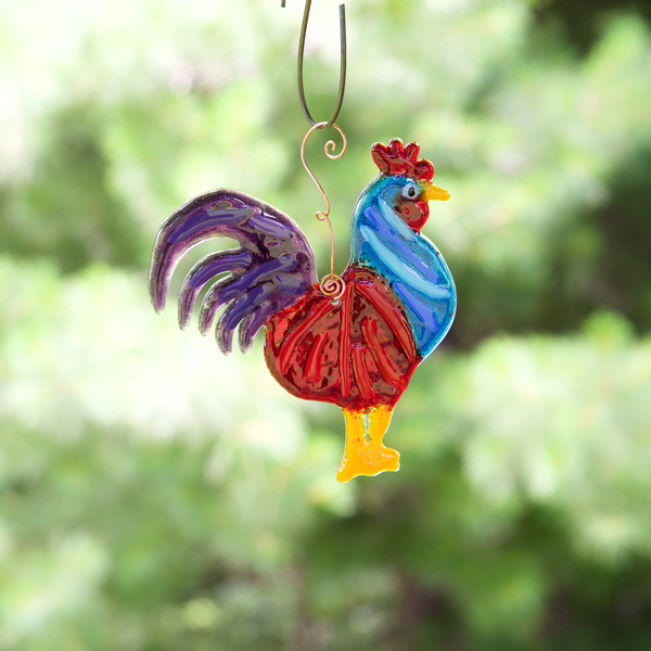 Rooster Suncatcher by Heidi Riha - © Blue Pomegranate Gallery
