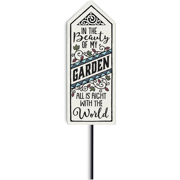 """Beauty of Garden"" Garden Stake by Michael Macone - © Blue Pomegranate Gallery"