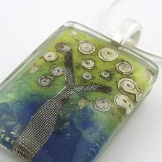 Dream Tree Rectangle Pendant by Mor