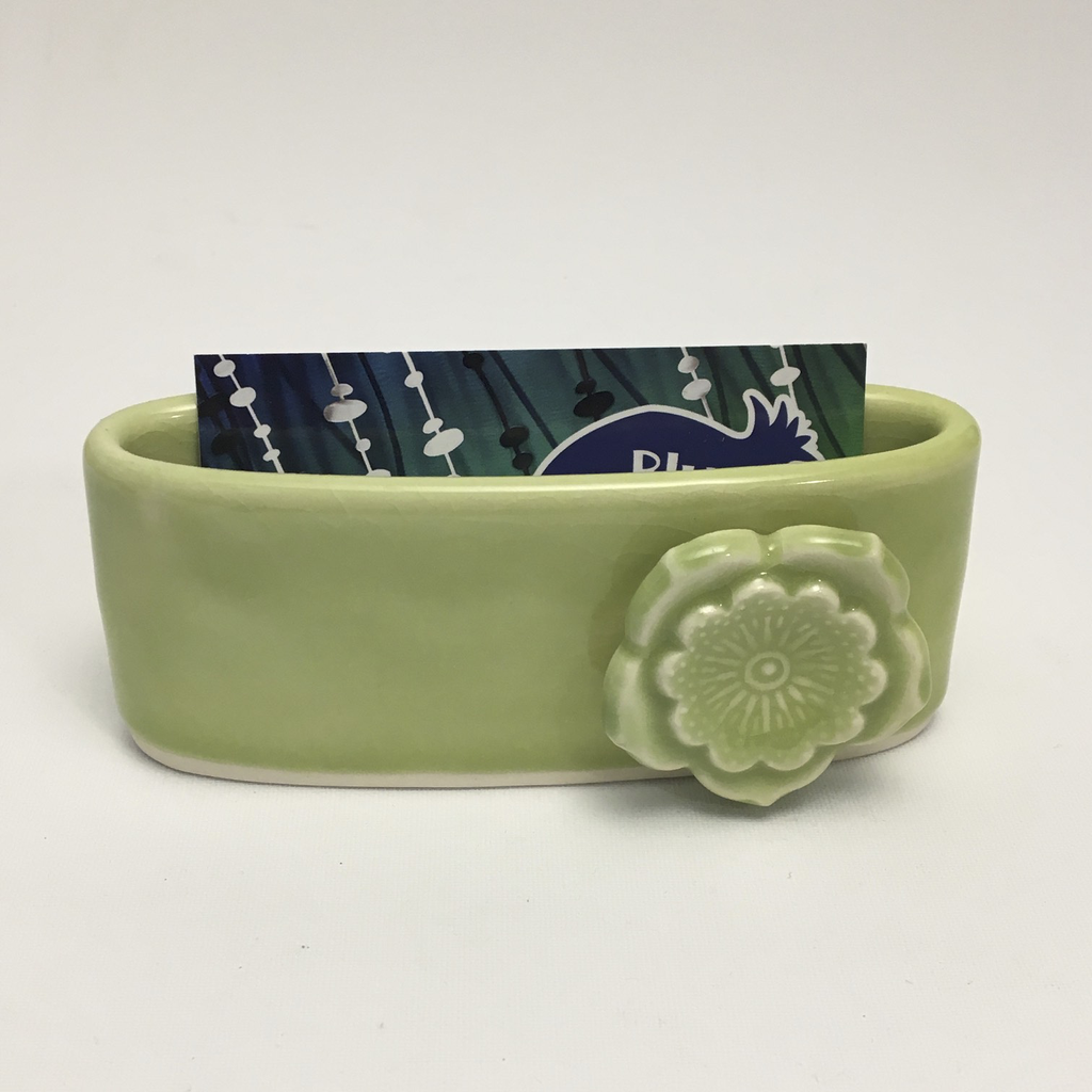 Moss Porcelain Business Card Holder by Berls & McConnell