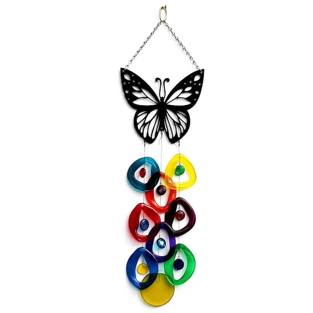 Butterfly Top Wind Chime by Chalfant - © Blue Pomegranate Gallery