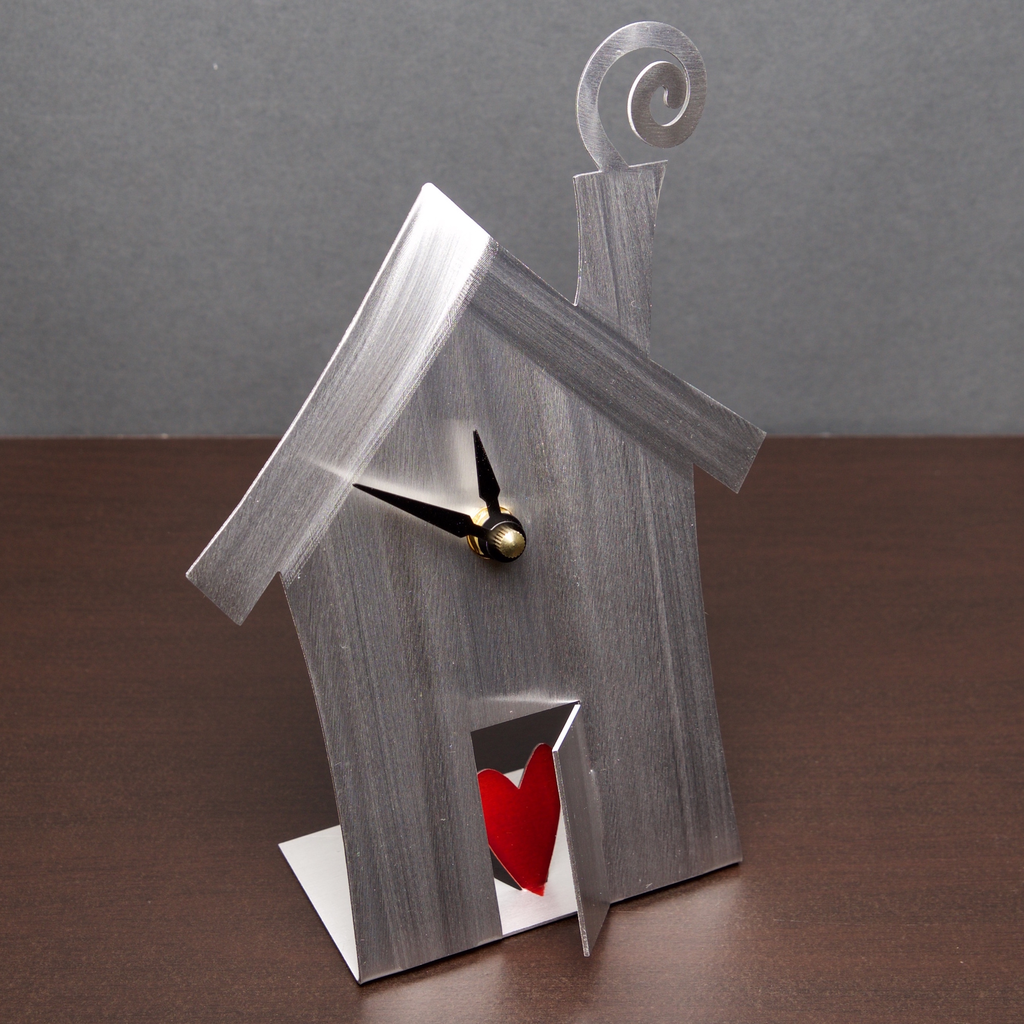 Heart & Home -Desk Clock by Sondra Gerber 5 1/2 x 8