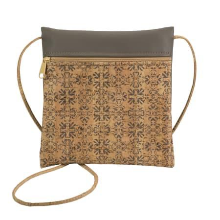 Mammoth TIle Print Be Lively Small Cork Cross Body Bag by Natalie DiBello