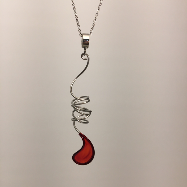 Stainless Steel Resin Pendant by Christopher Royal - © Blue Pomegranate Gallery