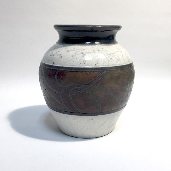 SM Deco Style Raku Vase by Tim Axtman