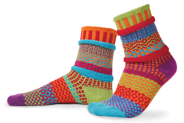 Cosmos Adult Crew Socks made of recycled cotton by Marianne Makerlin - © Blue Pomegranate Gallery