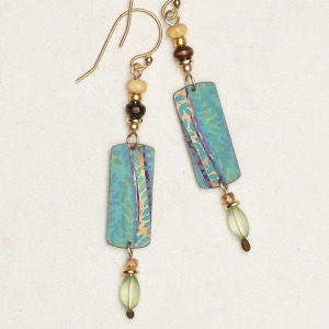 Tidal Teal Ciara Earrings by Holly Yashi - © Blue Pomegranate Gallery