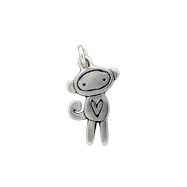 SM Sterling Silver Sock Monkey Necklace  by Mark Poulin