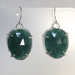Faceted Green Onyx Wire Wrapped Earrings by Cassie Leaders - © Blue Pomegranate Gallery