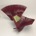 Folding Basket from Upcycled bamboo chopsticks.  Dyed Red. 14 x 8 x 3