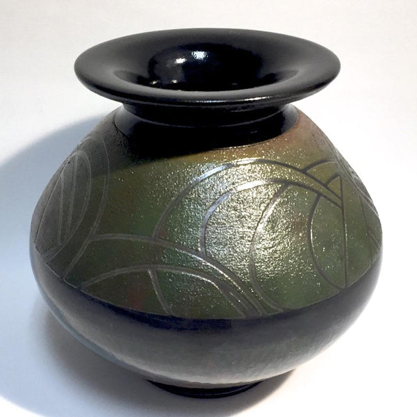 LG Deco Style Raku Vase by Tim Axtman