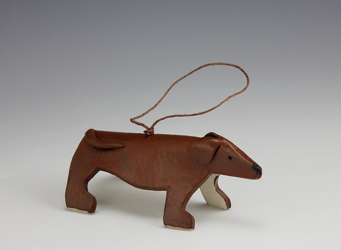 Long Dog Ornament by Beth DiCara - © Blue Pomegranate Gallery