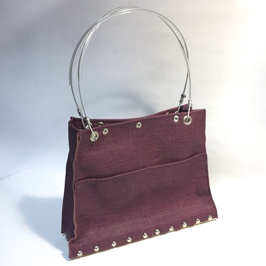 Plum Tapestry Riley Handbag by Renee Sonnichsen - © Blue Pomegranate Gallery