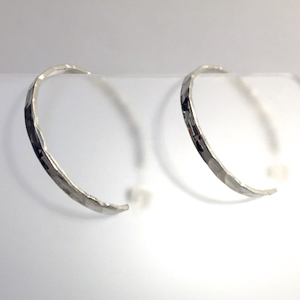 Hammered Hoop Earrings by Cassie Leaders - © Blue Pomegranate Gallery