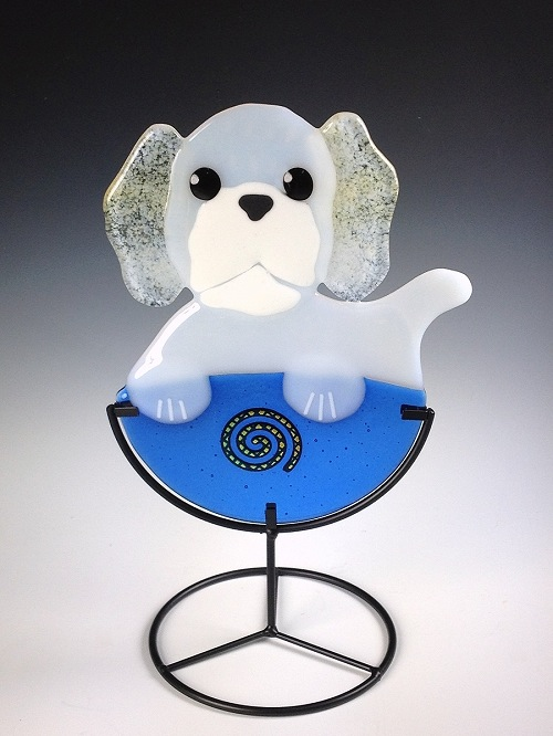Buffy, Bichon Pup Cup by Charlotte Behrens - © Blue Pomegranate Gallery