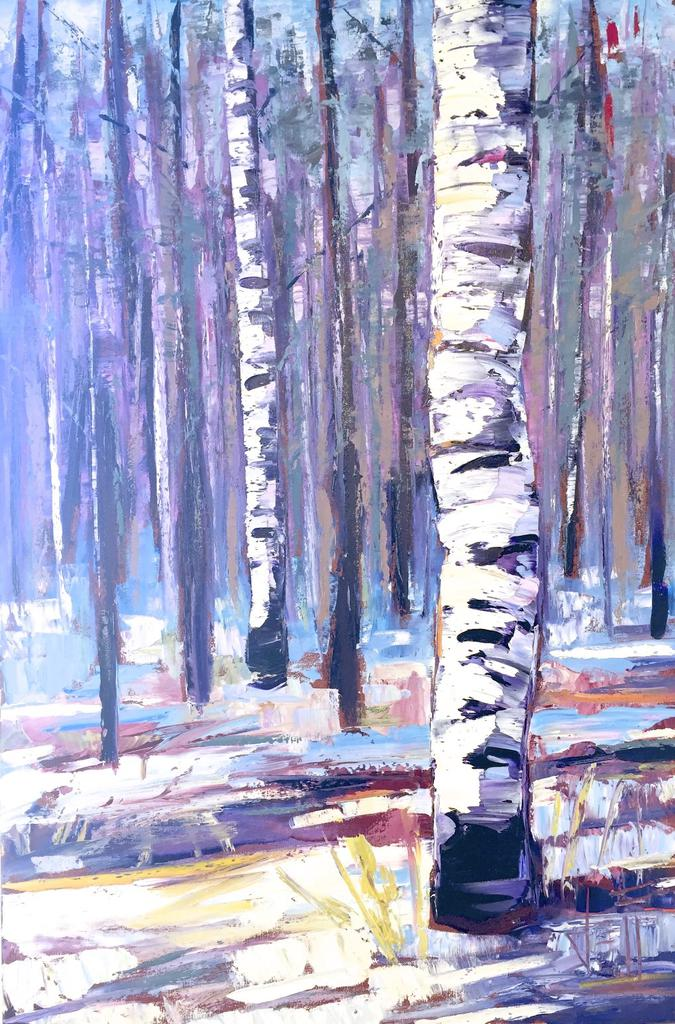 "Winterberry by Jeff Boutin, 24 x 36"" Oil on Canvas - © Blue Pomegranate Gallery"