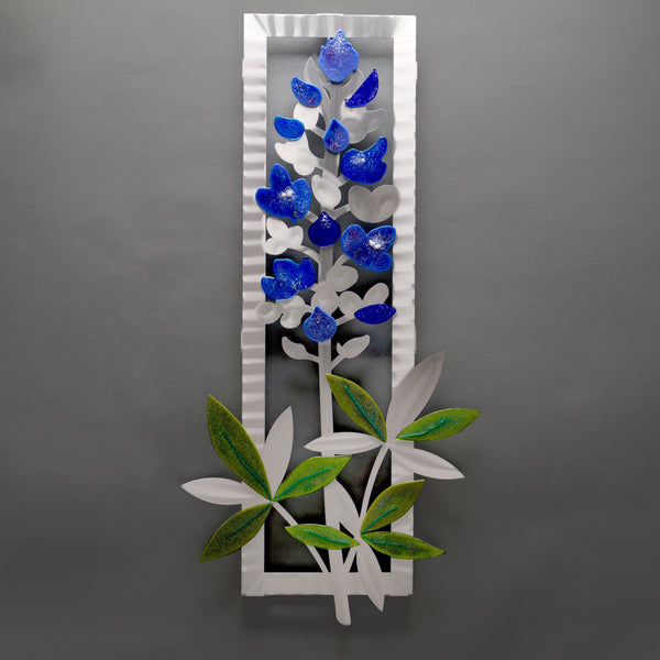 Delphinium with Glass by Sondra Gerber