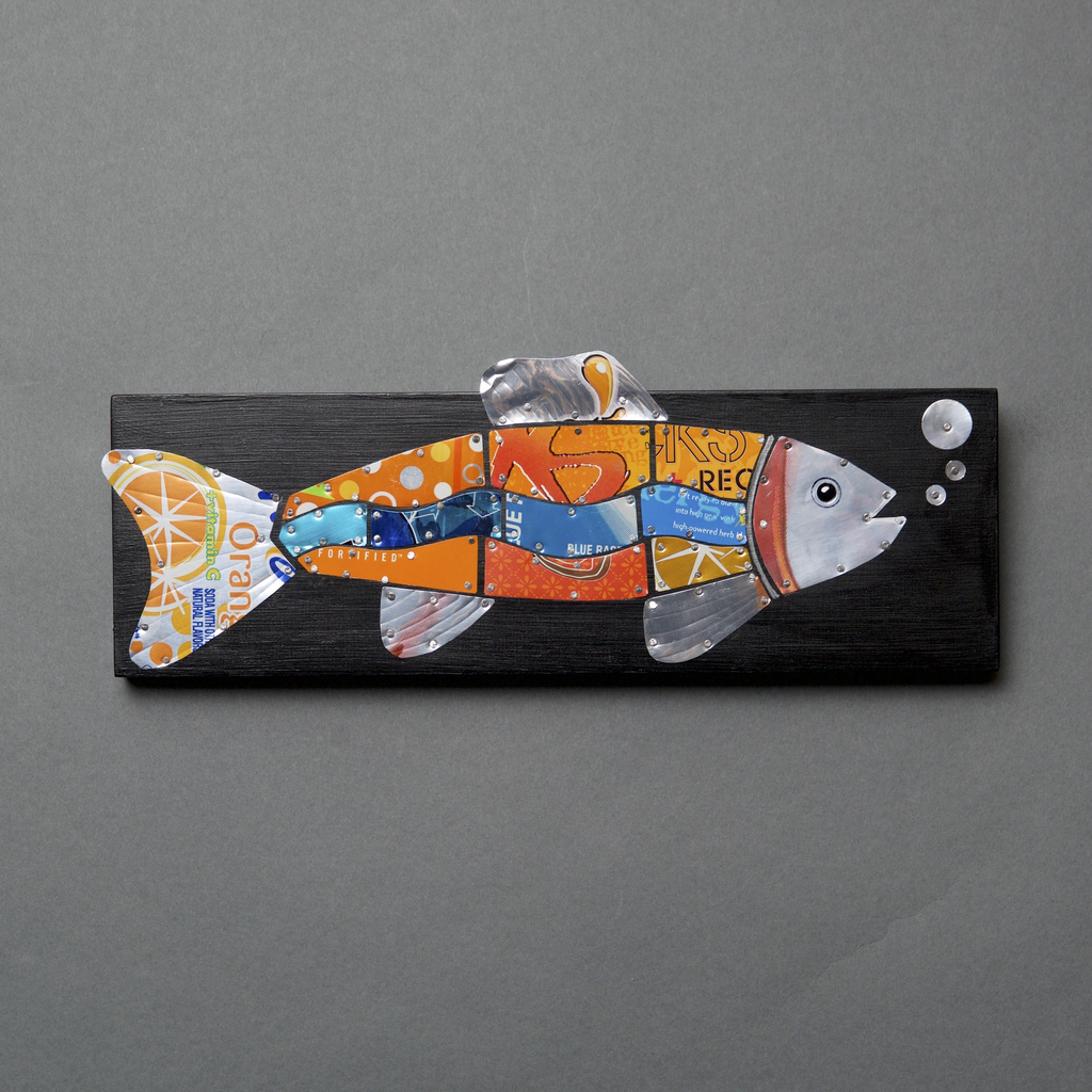 Something Fishy - Fish Pop Can Art - © Blue Pomegranate Gallery