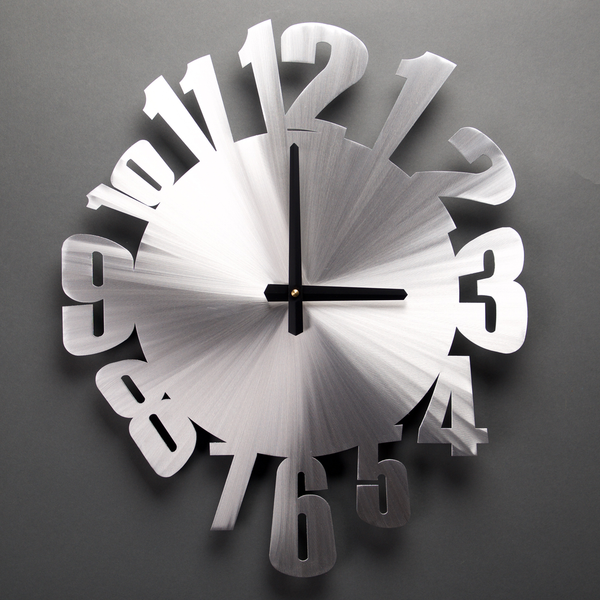 "Warped Wall Clock 23""by Sondra Gerber"