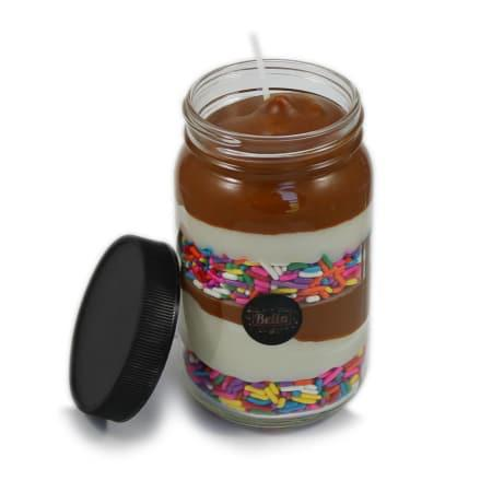 Happy Jar 13 oz. Sweet Baking Soy Candle in glass jar - © Blue Pomegranate Gallery