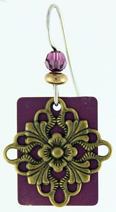 Purple Lotus Earrings by Jackie Magyar