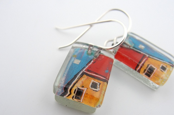 Kunsthaus Drop Earrings by Edo Mor - © Blue Pomegranate Gallery