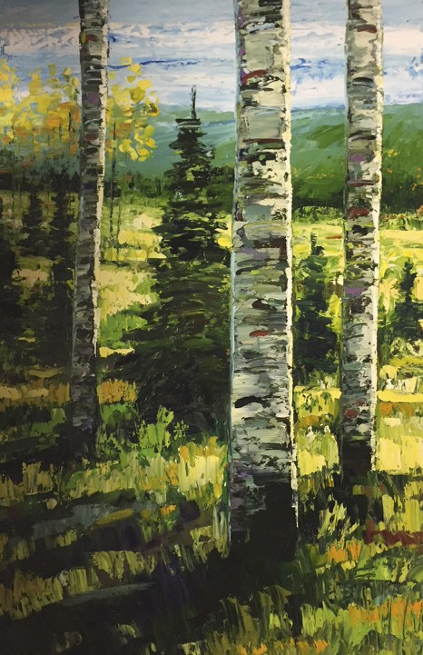 Quiet Wild by Jeff Boutin  - Oil on canvas 24 x 36""