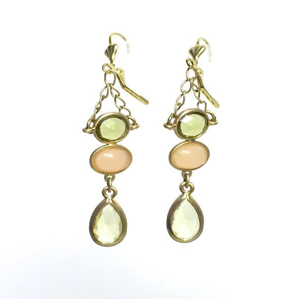 Imogen in Spring Green Earrings by Stephanie Heller Durr - © Blue Pomegranate Gallery