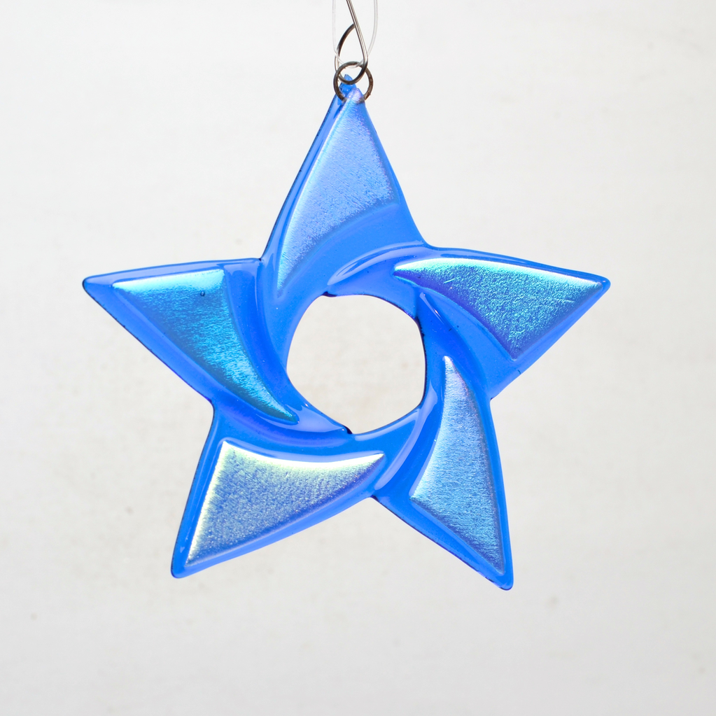 Blue Star Ornament by Denise Childs - © Blue Pomegranate Gallery