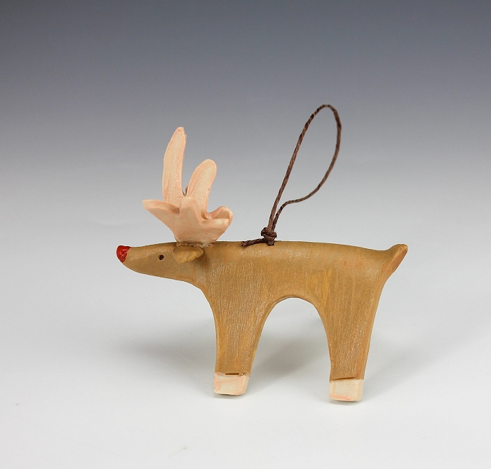 Reindeer Ornament by Beth DiCara - © Blue Pomegranate Gallery