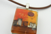 Day in the Village Pendant  by Mor - © Blue Pomegranate Gallery