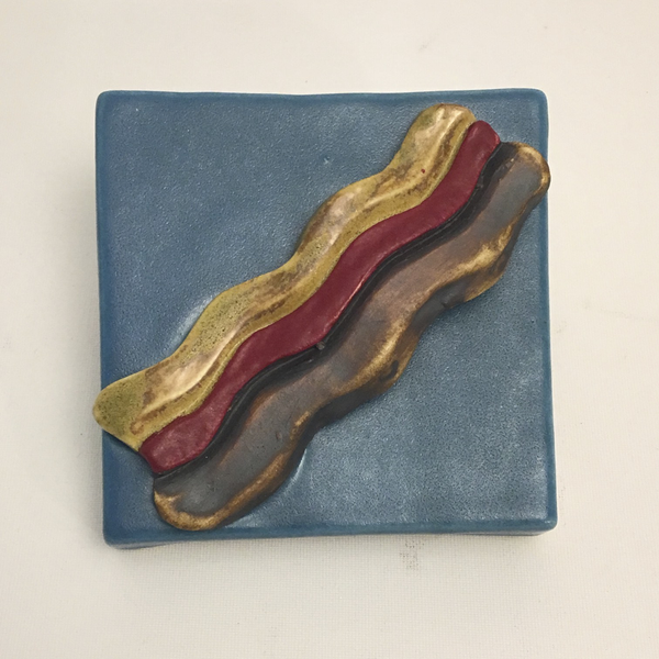 Bacon Clique Tile by Ed and Kate Coleman - © Blue Pomegranate Gallery