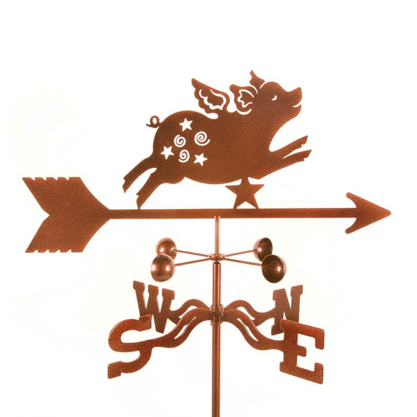 Flying Pig Weathervane by Debra Kelch