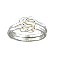 Double Knot Sterling Ring, Adj. Size by Mark Steel